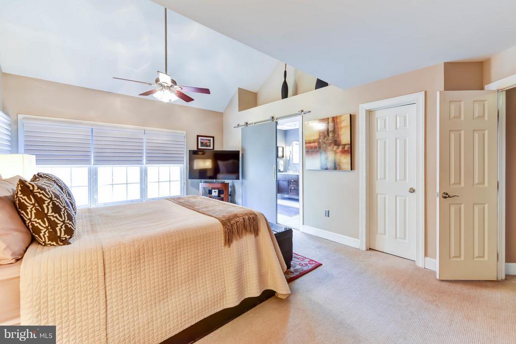 Master suite with barn door to en suite bath - 505 THOMAS ST N, ARLINGTON