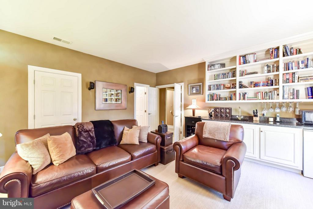 Family Room with wet bath and beverage fridge - 505 THOMAS ST N, ARLINGTON