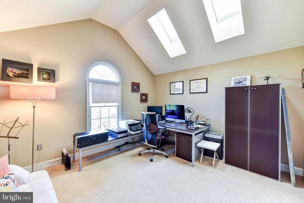 Bedroom #3 on the 4th level with skylights - 505 THOMAS ST N, ARLINGTON