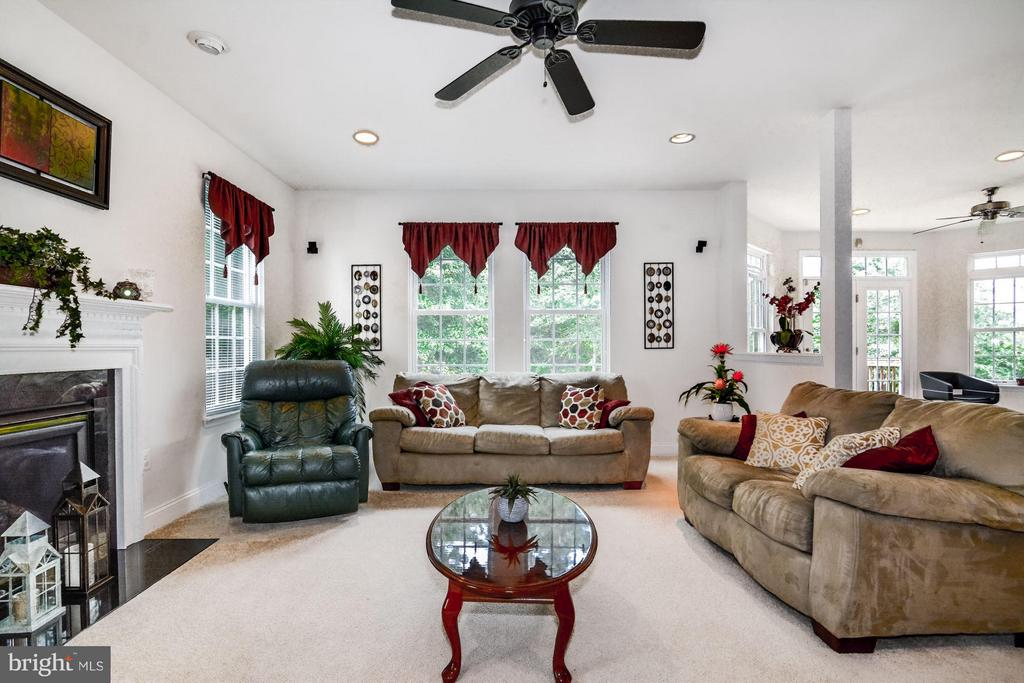 Cozy  Family Room with Gas Fireplace - 3321 LADY CATHERINE CIR, TRIANGLE