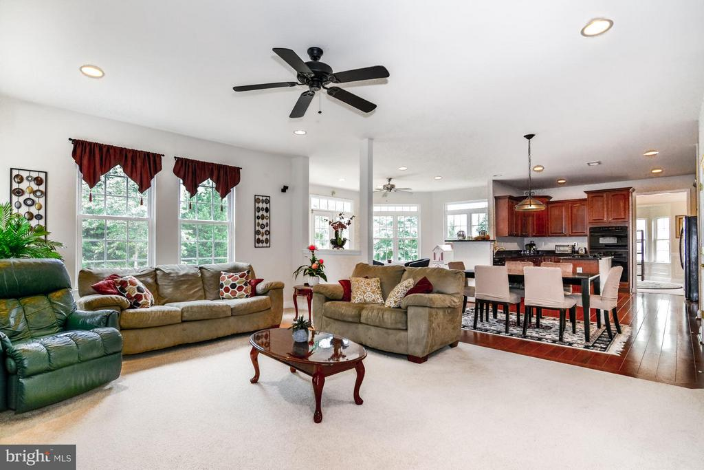 Family Room Open to Kitchen and Sun Room - 3321 LADY CATHERINE CIR, TRIANGLE