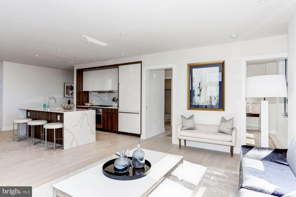 Living Room - 1427 RHODE ISLAND AVE NW #PH3, WASHINGTON