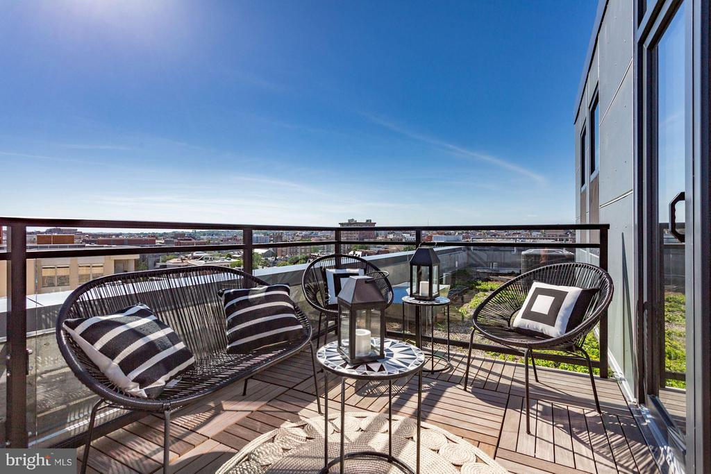 Private Penthouse Patio - 1427 RHODE ISLAND AVE NW #PH3, WASHINGTON