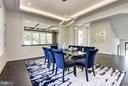 Large Dining Room with custom lighting - 3701 38TH ST N, ARLINGTON