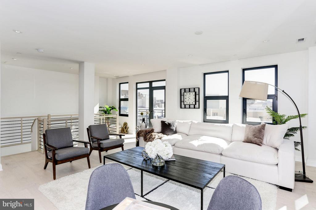 Upper Penthouse Living Room - 1427 RHODE ISLAND AVE NW #PH3, WASHINGTON