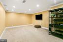 Basement media room - 3008 WEBER PL, OAKTON