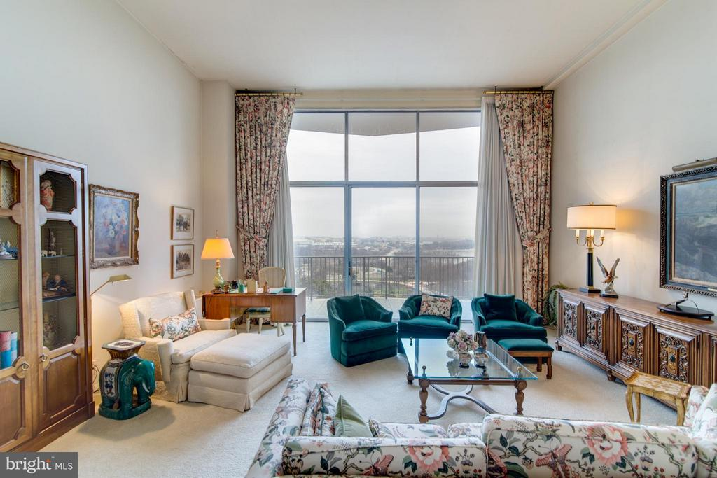 LR overlooking the spectacular view - 1200 NASH ST #830, ARLINGTON