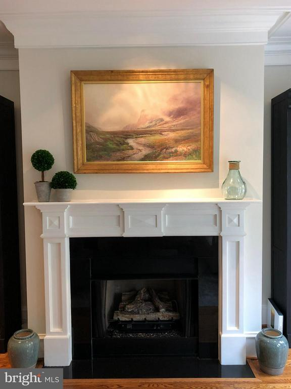A handsome mantel compliments the moldings - 711 UNION ST S, ALEXANDRIA