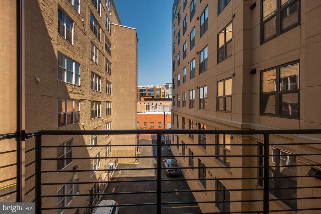 balcony off of 2nd bedroom - 1427 RHODE ISLAND AVE NW #301, WASHINGTON
