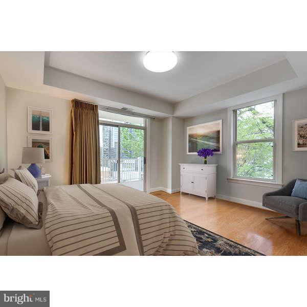 2nd BR Opens to balcony. DC Views (virtual) - 1555 COLONIAL TER #501, ARLINGTON