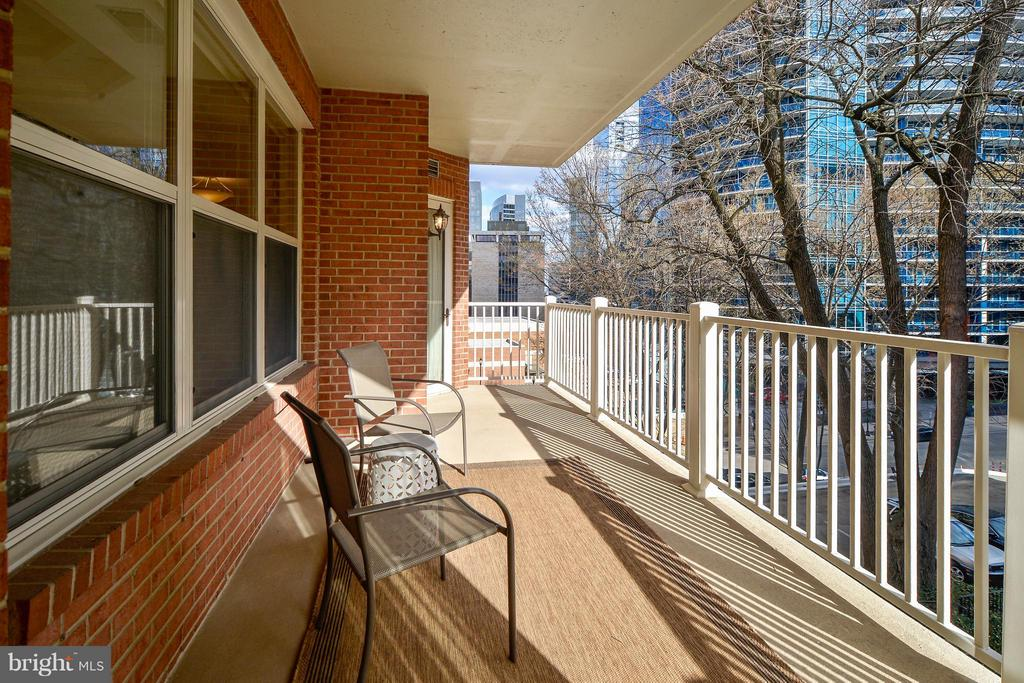 Balcony off Kitchen, Dining, Living Room - 1555 COLONIAL TER #501, ARLINGTON