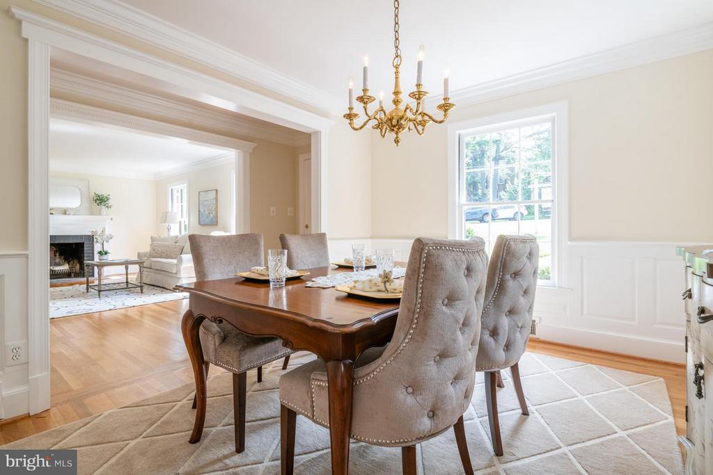 Dining Room is ideal for formal meals - 6212 RANDALL CT, ALEXANDRIA