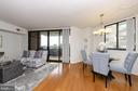 Open concept living and dining... - 1001 RANDOLPH ST N #722, ARLINGTON