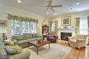 Family Room with Fireplace - 6025 GROVE DR, ALEXANDRIA