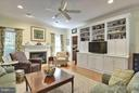 Family Room with Built-ins - 6025 GROVE DR, ALEXANDRIA