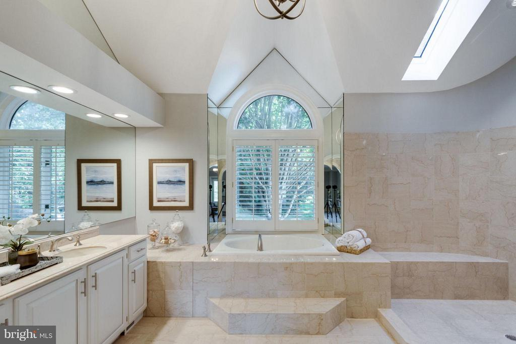 Luxurious Owner's Bath with large walk-in shower - 10431 NEW ASCOT DR, GREAT FALLS