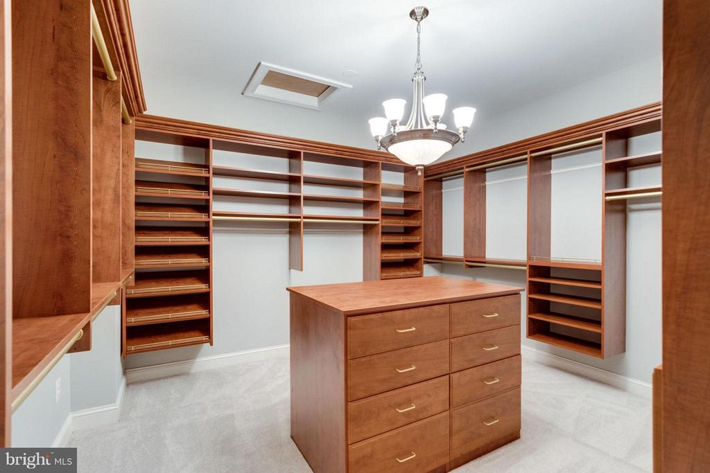 Two Dressing Closets in Owner's Suite - 10431 NEW ASCOT DR, GREAT FALLS