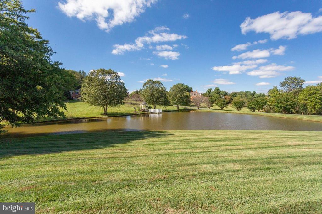 View of breathtaking pond - 10431 NEW ASCOT DR, GREAT FALLS