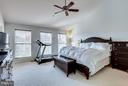 Owner's bedroom with vaulted ceiling - 12079 TRUMBULL WAY, RESTON