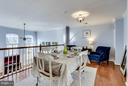Good sized dining area overlooking living room - 12079 TRUMBULL WAY, RESTON