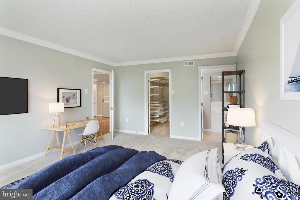 Bedroom (Master) - 1515 ARLINGTON RIDGE RD S #503, ARLINGTON