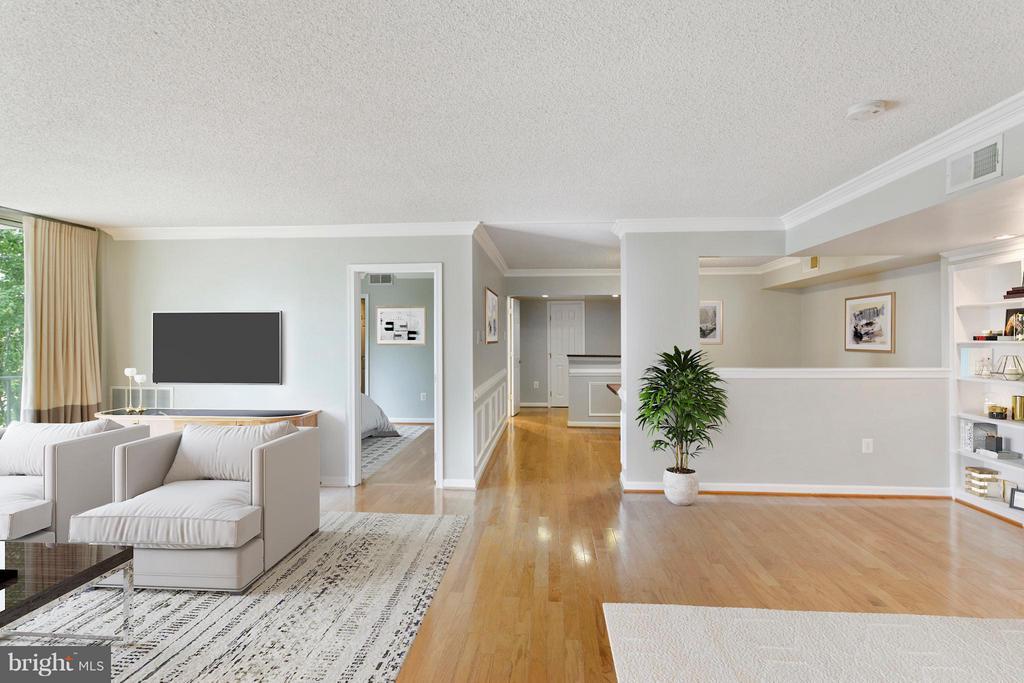 Living Room - 1515 ARLINGTON RIDGE RD S #503, ARLINGTON