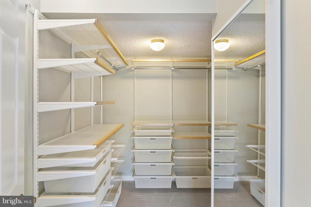 Walk-in closet w/ organizers! - 1515 ARLINGTON RIDGE RD S #503, ARLINGTON