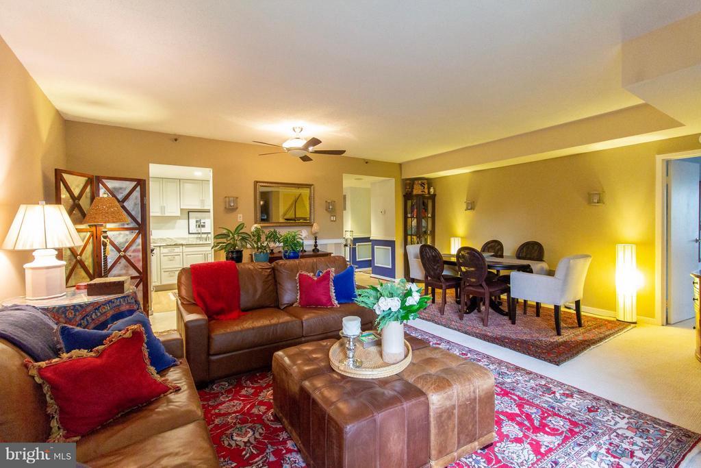 Expansive liiving Room - 1530 KEY BLVD #527, ARLINGTON