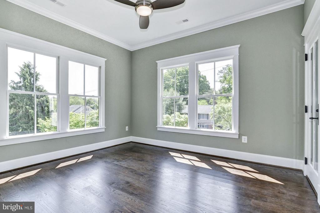 5th of 6 Bedrooms (or Office) features a balcony! - 5601 WILLIAMSBURG BLVD, ARLINGTON