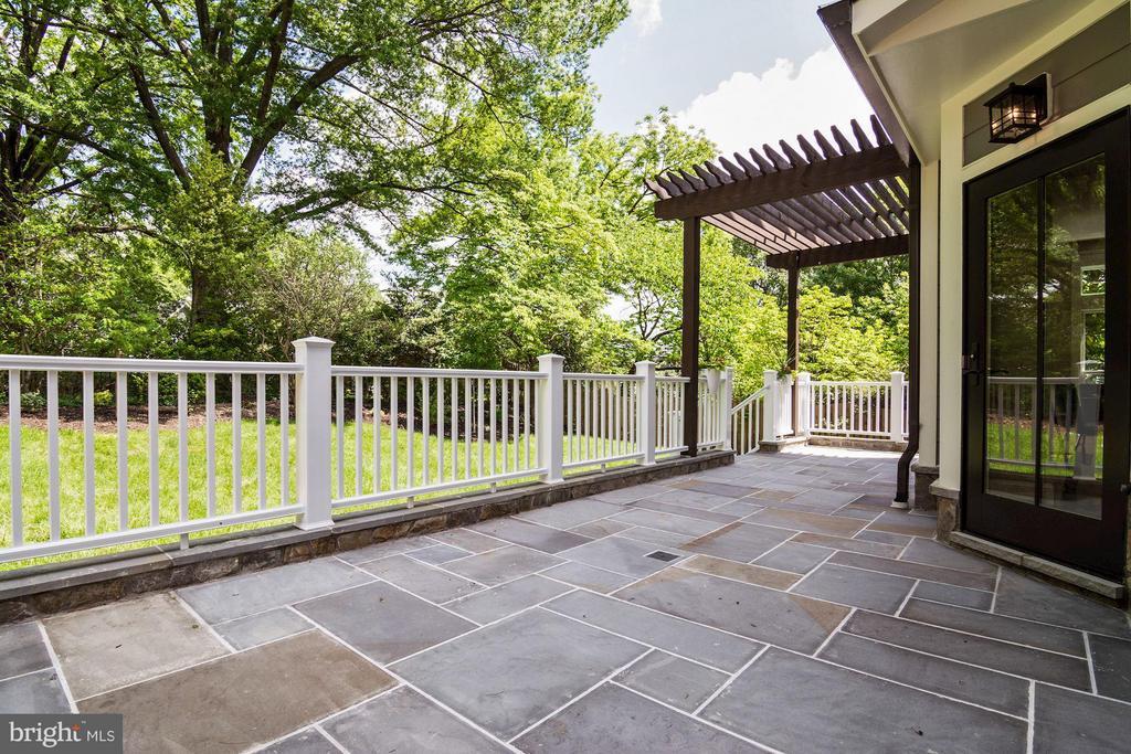 Raised flagstone patio w/gas hookups! - 5601 WILLIAMSBURG BLVD, ARLINGTON