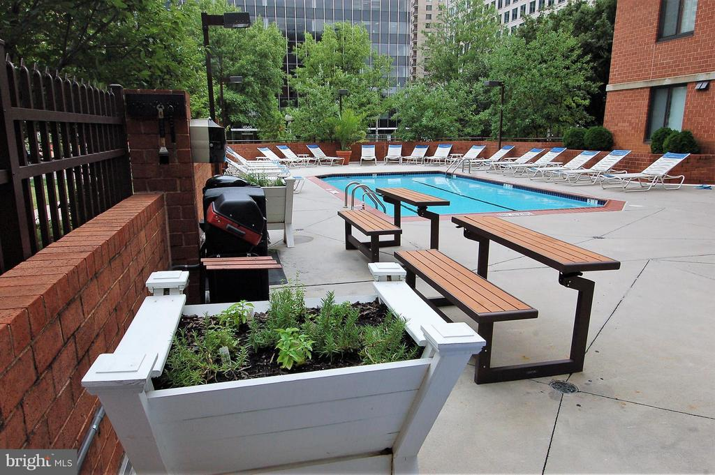 Grilling Area and Herb Garden - 1001 RANDOLPH ST #917, ARLINGTON