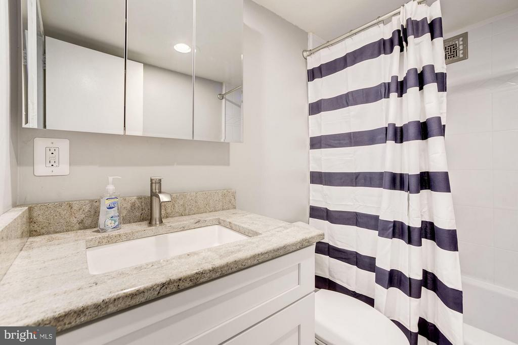 2nd bath w/ brand new vanity & fresh paint - 4600 FOUR MILE RUN DR #303, ARLINGTON