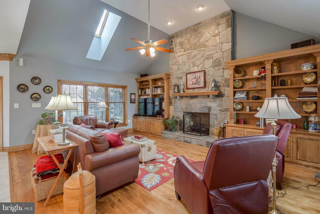 Family Room with Built-ins and Skylights - 40821 HANNAH DR, WATERFORD