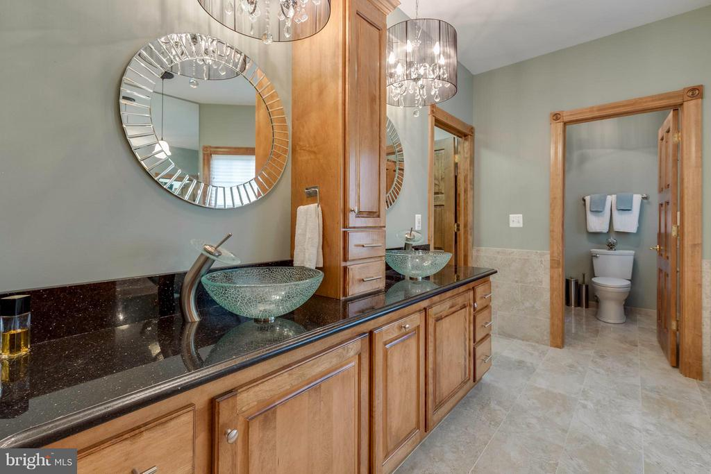 Main Level Master Bathroom w Granite Counters - 40821 HANNAH DR, WATERFORD