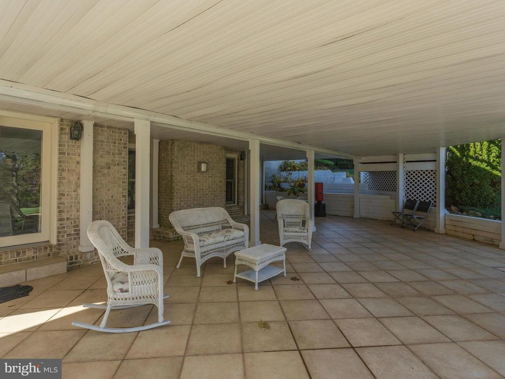 Patio off Recreation Room. - 2107 POLO POINTE DR, VIENNA