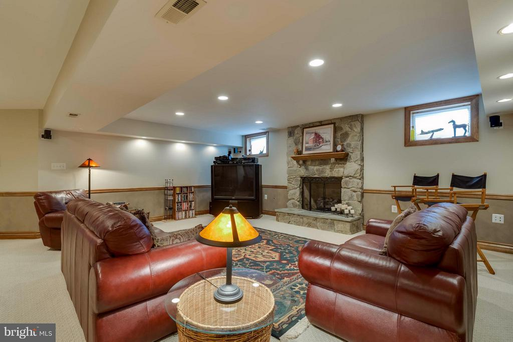 Lower Level Spacious Family Room w/ Gas Fireplace - 40821 HANNAH DR, WATERFORD