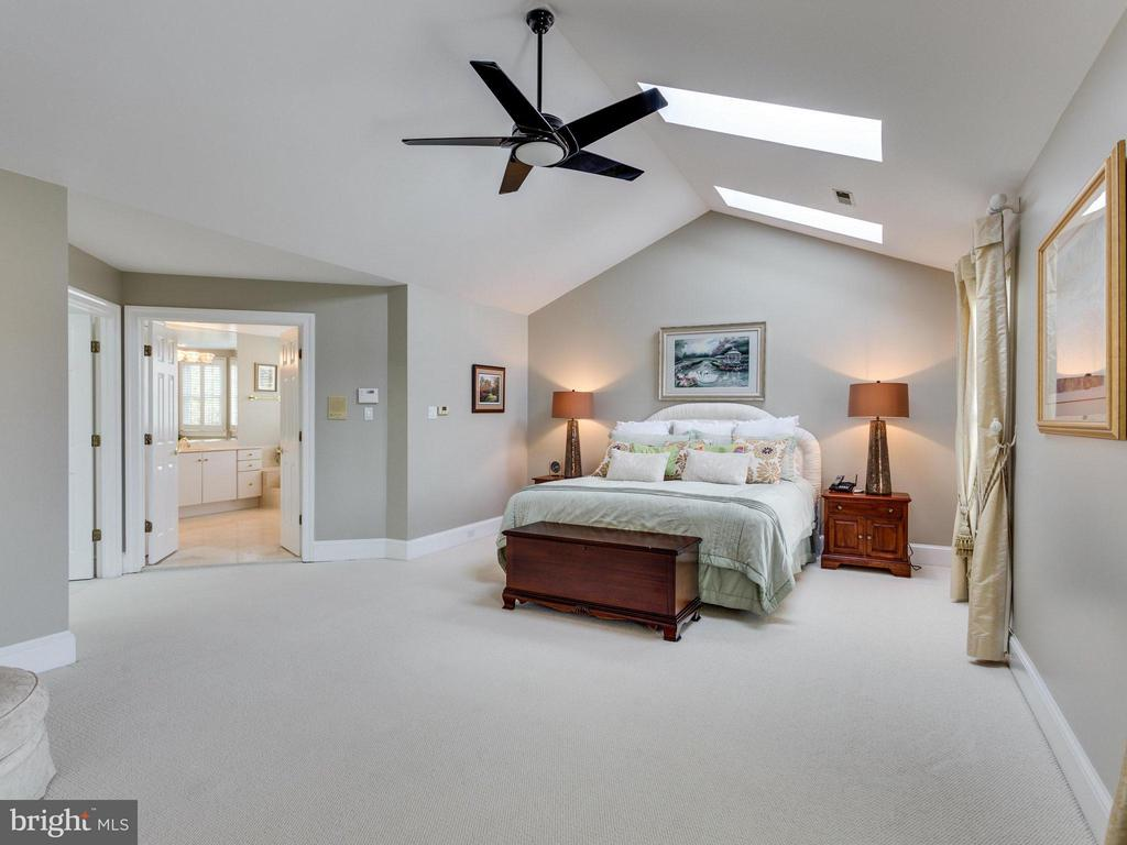Cathedral Ceiling in Master Bedroom. - 2107 POLO POINTE DR, VIENNA