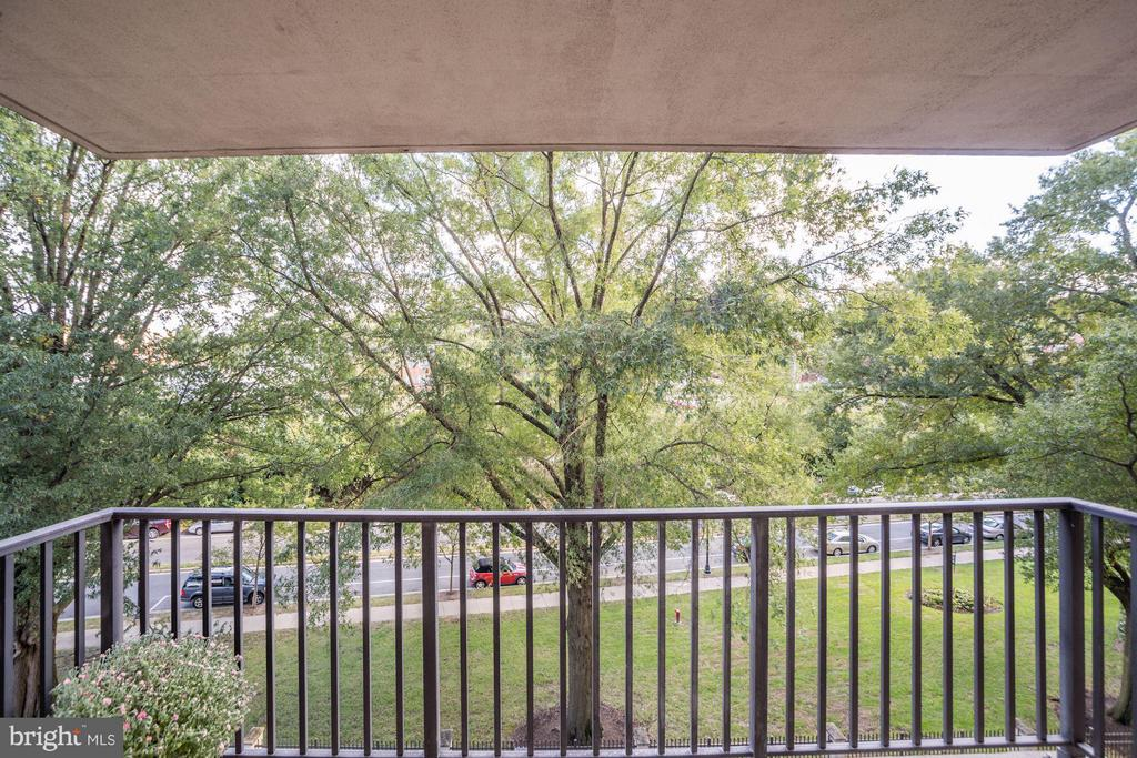 Private balcony with tree views - 4600 FOUR MILE RUN DR #303, ARLINGTON
