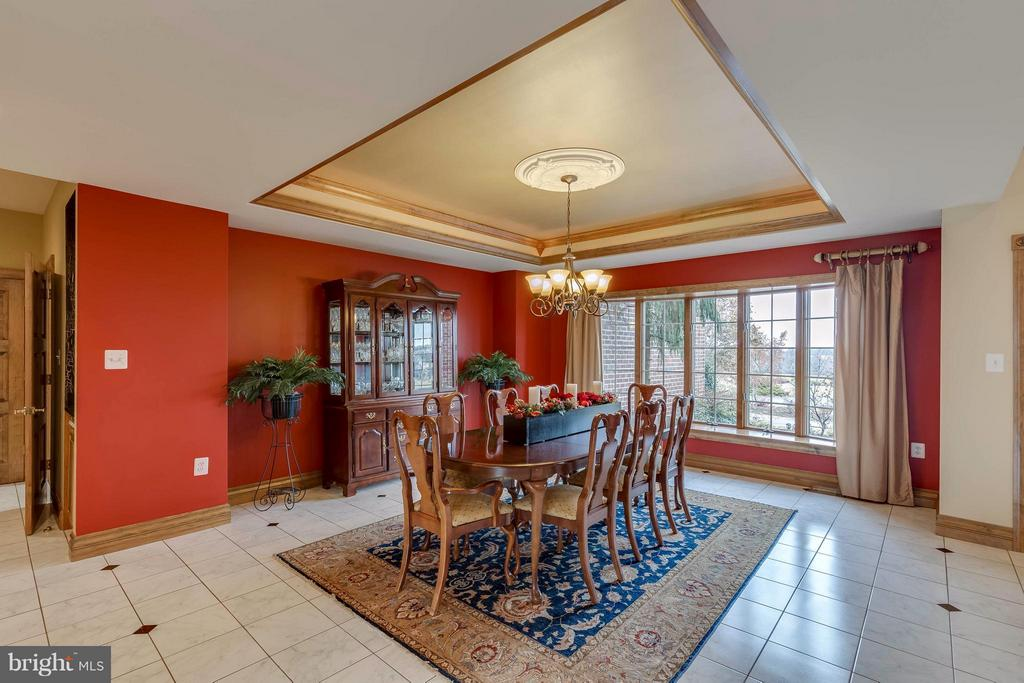 Dining Room with Lit Tray Ceiling - 40821 HANNAH DR, WATERFORD