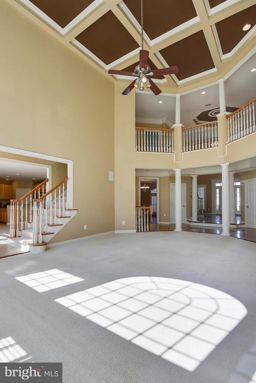 Family Room - Beautiful Coffer Ceilings - 42739 CEDAR RIDGE BLVD, CHANTILLY