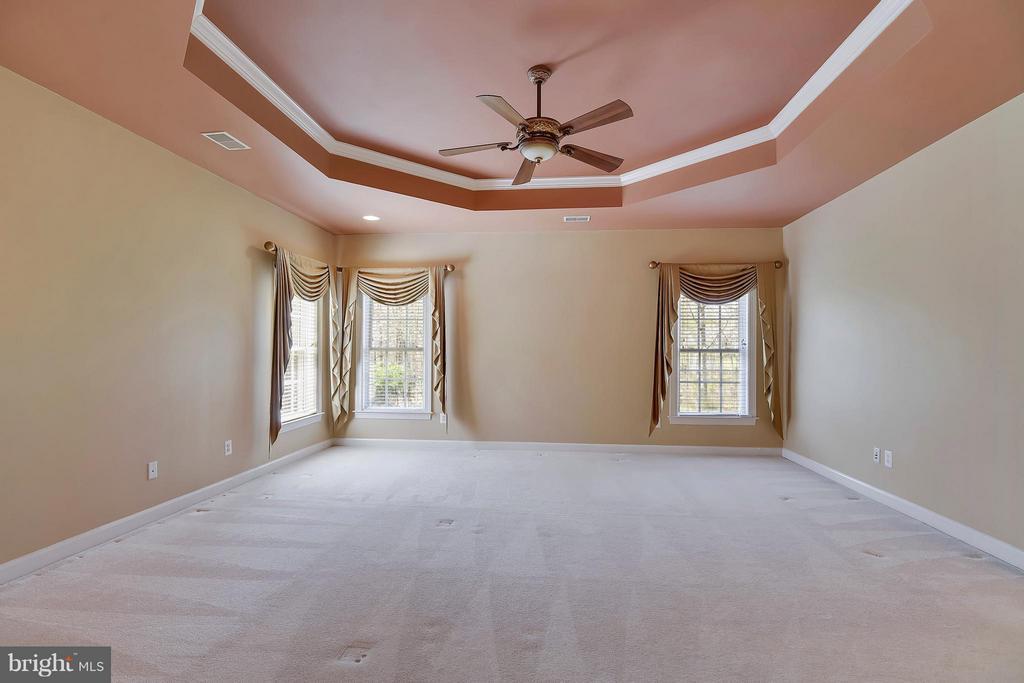 Bedroom (Master) with custom window treatments - 42739 CEDAR RIDGE BLVD, CHANTILLY