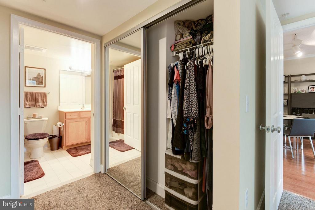 Two closets in the master - 1201 GARFIELD ST #602, ARLINGTON