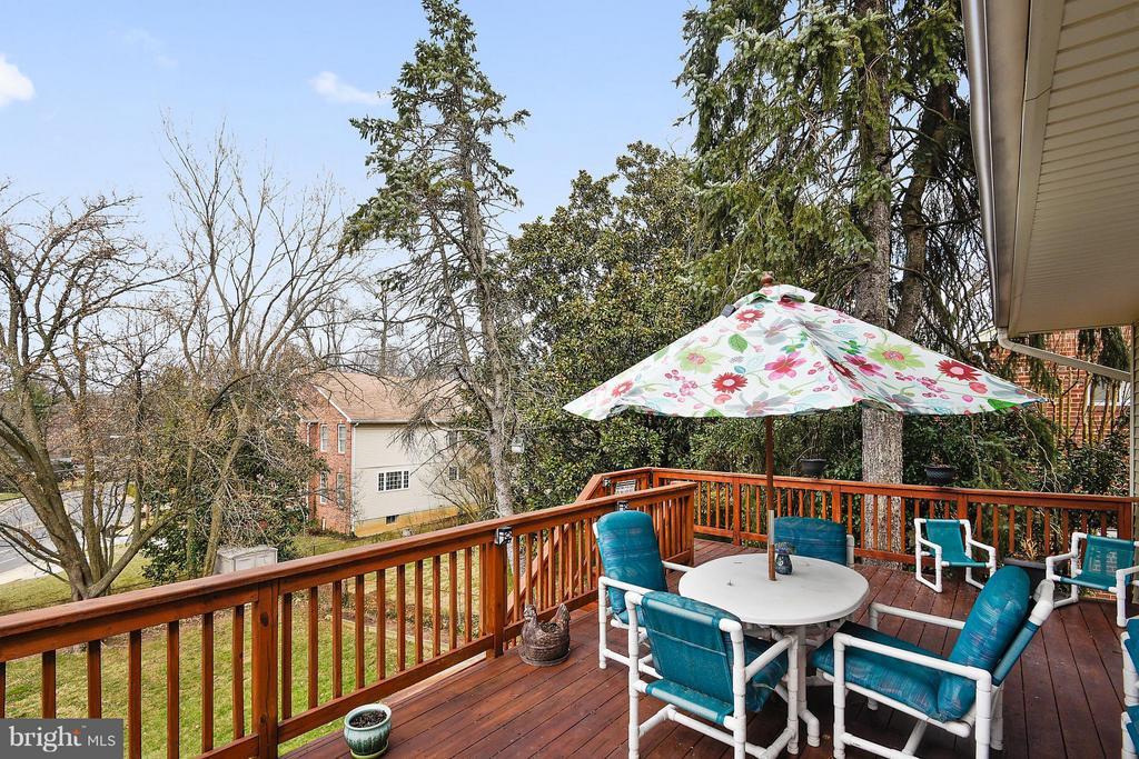 Natural deck overlooking  large yard - 2610 MARCEY RD, ARLINGTON