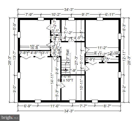 Floor Plan Upper Level - 2610 MARCEY RD, ARLINGTON
