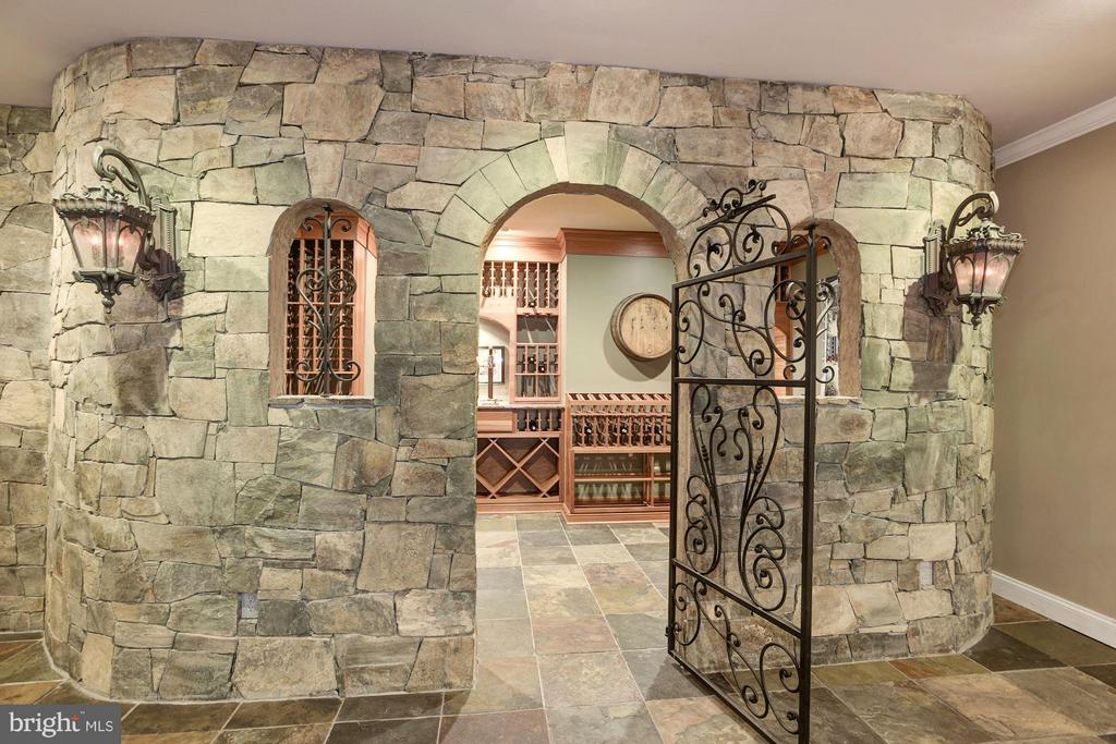 Amazing Stone Wine Cellar with gorgeous Wine Racks - 1211 RESTON AVE, HERNDON