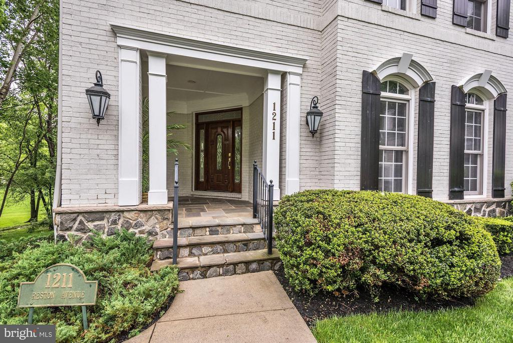 Beautiful Slate and Stone Covered Front Porch. - 1211 RESTON AVE, HERNDON