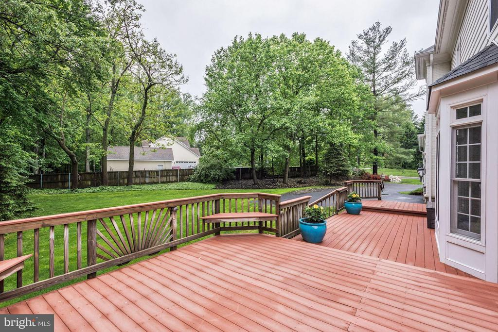 Deck with Beautiful views of lush grounds. - 1211 RESTON AVE, HERNDON