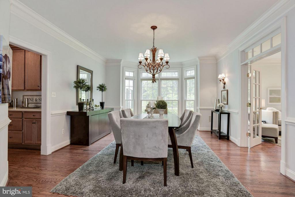 Spacious Dining room w/Bay Window & French Doors. - 1211 RESTON AVE, HERNDON
