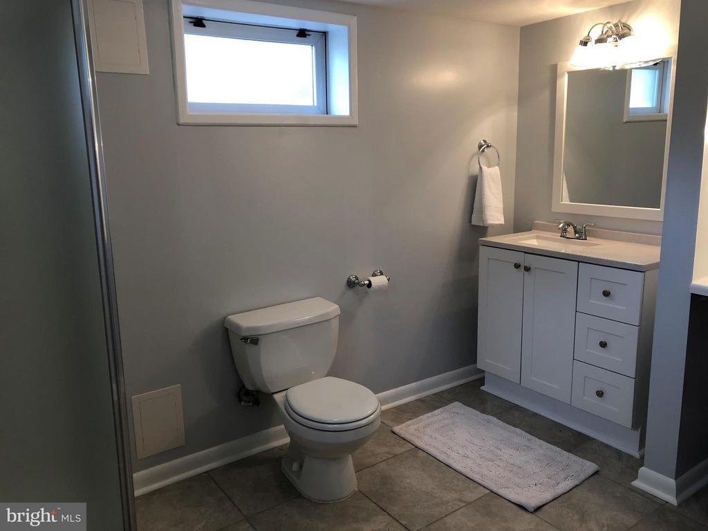 New vanity, shower, paint & tile floors - 3033 CRANE DR, FALLS CHURCH