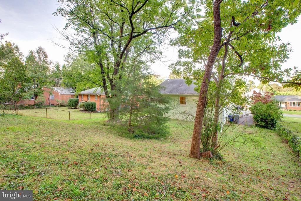 Sizable fenced yard - 3033 CRANE DR, FALLS CHURCH